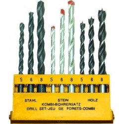 Burghie Combinate (9 buc/set) Buildxell - Diametru: 5-6-8 mm