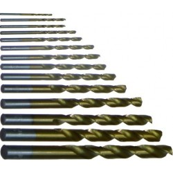 Burghie Titanium (13 buc/set) Evotools - Diametru: 1.5-10 mm