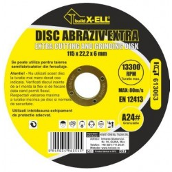 Disc Abraziv BuildXell A24 Extra Buildxell - Diametru: 115mm Latime: 6 mm