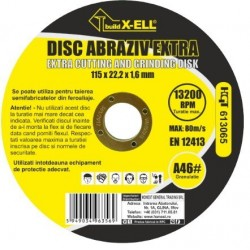 Disc Abraziv BuildXell A46 Extra Buildxell - Diametru: 125mm Latime: 1.6 mm