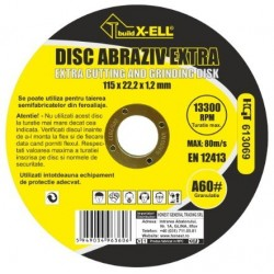 Disc Abraziv BuildXell A60 Extra Buildxell - Diametru: 125mm Latime: 1.2 mm