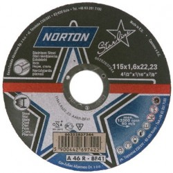 Disc Abraziv Norton A46R-BF41 Norton - Diametru: 115mm Latime: 1.6 mm