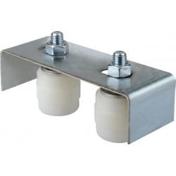 Placa Ghidaj Suport Reglabil, 2 Role Cilindrice Buildxell - Diametru: 42mm Lungime: 40 mm