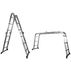 Scara Multifunctionala din Aluminiu Buildxell - Nr. trepte: 14 Inaltime: 1-4 m