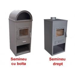 Semineu ETS Eva Buildxell - Putere: 7kW Model: Intreg Cu Bolta - Culoare: Negru