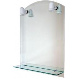 Oglinda Etajera+Lampa,Dublu 60x80 Aqua - Inaltime: 600mm Latime: 800 mm