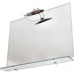 Oglinda Etajera+Lampa,Simplu 60x80 Aqua - Inaltime: 600mm Latime: 800 mm
