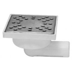 Sifon Orizontal Patrat pt Pardoseala Ttm - Lungime: 100mm Diametru: 32mm Model: SP-100x100-380-1