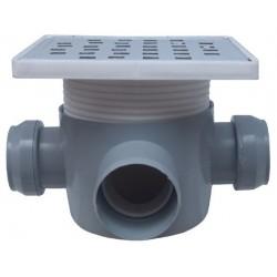 Sifon Pardoseala cu 2 Intrari 180 SP-H75-160-3 Ttm - Diametru: 40mm Diametru: 50 mm