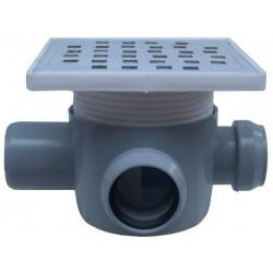 Sifon Pardoseala cu 2 Intrari 90 Dreapta SP-H75-160-2 Ttm - Diametru: 40mm Diametru: 50 mm