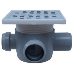 Sifon Pardoseala cu 2 Intrari 90 Stanga SP-H75-160-1 Ttm - Diametru: 40mm Diametru: 50 mm