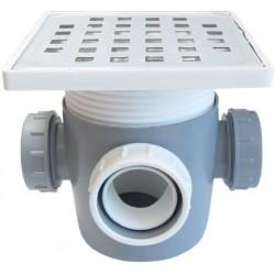 Sifon Pardoseala cu Inaltator Inox SP-H110-130-1 Ttm - Diametru: 50+Pmm Diametru: 3x40+D mm