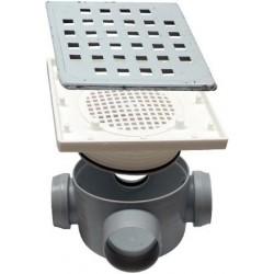 Sifon Pardoseala cu Inaltator Inox SP-H95-210-1 Ttm - Diametru: 50mm Diametru: 3x40 mm
