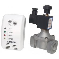 Detector de Gaz cu Electrovalva Gevax Ttm - Diametru: 3/4 inch