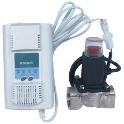 Detector de Gaz cu Electrovalva Sistec GD401 Ttm - Diametru: 3/4 inch
