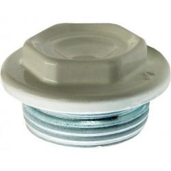 Dop pt Calorifer Alb Ttm - Diametru: 1inch Filet: ST - Cod: 02