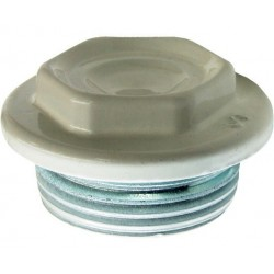 Dop pt Calorifer Alb Ttm - Diametru: 1inch Filet: DR - Cod: 01