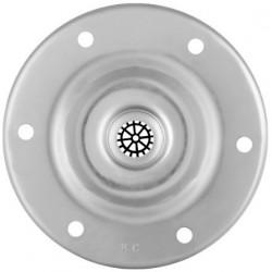 Flansa de Otel Galvanizat pt Rezervoare de Hidrofor Aqua - Diametru: 128mm dg[mm]: 9 - Nr. gauri: 6