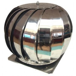 Capac Terminal Rotativ Cos de Fum INOX cu Talpa Bg Ttm - Diametru: 200 mm