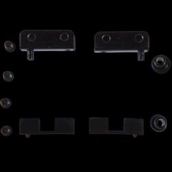 Balama metalica pentru geam negru