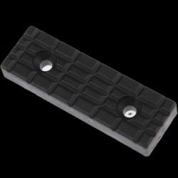 Picior plat plastic negru