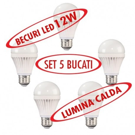 Set 5 bucati - Becuri LED ( Lumina calda )