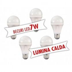 Set 5 bucati - Becuri LED 7W ( Lumina calda )