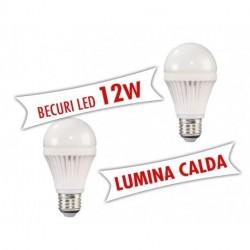 Set 2 bucati - Becuri LED 12W E27 ( Lumina calda )