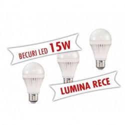 Set 3 bucati - Becuri LED 15W ( Lumina rece )