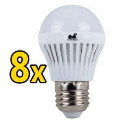 Set 8 Becuri LED 12W - Lumina Calda
